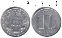 Изображение Монеты ГДР 10 пфеннигов 1973 Алюминий XF А