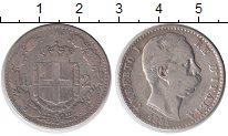 Изображение Монеты Италия 2 лиры 1884 Серебро VF