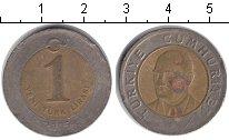 Изображение Дешевые монеты Турция 1 лира 2005 Биметалл VF
