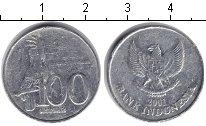 Изображение Дешевые монеты Индонезия 100 рупий 2001 Алюминий VF