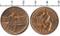 Изображение Монеты Сан-Марино 200 лир 1994  UNC-
