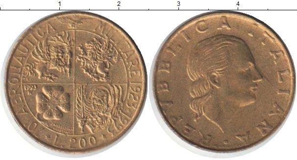 Картинка Монеты Италия 200 лир Медь 1993