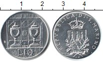 Изображение Монеты Сан-Марино 10 лир 1979 Алюминий UNC- Кубки
