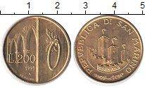 Изображение Монеты Сан-Марино 200 лир 1993  UNC-