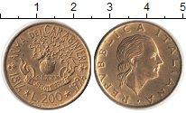 Изображение Монеты Италия 200 лир 1994 Медь XF 180 лет карабинерам