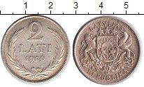 Изображение Монеты Латвия 2 лата 1926 Серебро XF