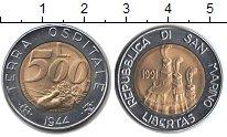 Изображение Монеты Сан-Марино 500 лир 1991 Биметалл UNC-