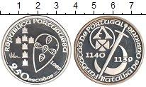 Изображение Монеты Португалия 250 эскудо 1989 Серебро Proof- 850 лет объединения