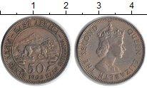 Изображение Монеты Восточная Африка 50 центов 1955 Медно-никель XF