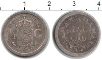 Изображение Монеты Нидерландская Индия 1/4 гульдена 1910 Серебро VF
