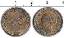 Изображение Монеты Кюрасао 1/4 гульдена 1944 Серебро XF