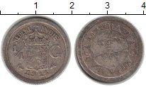 Изображение Монеты Нидерландская Индия 1/4 гульдена 1911 Серебро VF