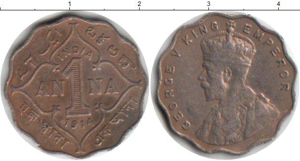 Картинка Монеты Индия 1 анна Медно-никель 1914