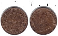 Изображение Монеты Индия 1/12 анны 1914 Медь VF Георг V