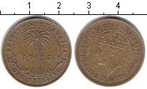 Изображение Монеты Западная Африка 1 шиллинг 1952 Медь XF Георг VI