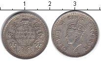 Изображение Монеты Индия 1/4 рупии 1944 Серебро XF