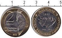 Изображение Монеты Аргентина 2 песо 2012 Биметалл XF