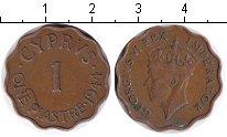 Изображение Монеты Кипр 1 пиастр 1944 Медь XF