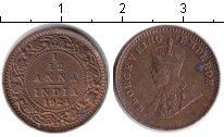 Изображение Монеты Индия 1/12 анны 1924 Медь VF