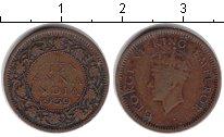 Изображение Монеты Индия 1/12 анны 1939 Медь VF