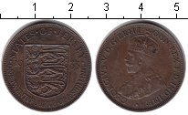 Изображение Монеты Остров Джерси 1/24 шиллинга 1933 Медь XF