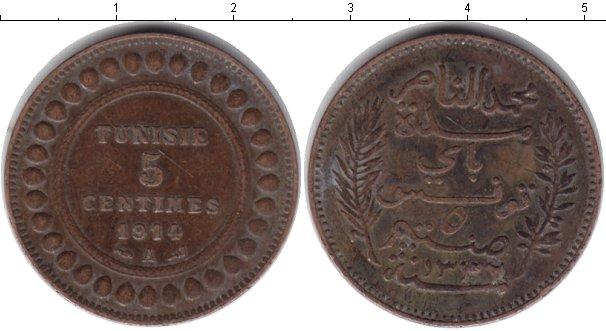 Картинка Монеты Тунис 5 сантим Медь 1914
