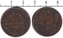 Изображение Монеты Индия 1/4 анны 1835 Медь VF Британская Ост-Индск
