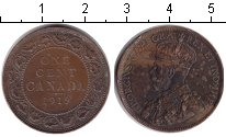 Изображение Монеты Канада 1 цент 1919 Медь XF