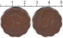 Изображение Монеты Египет 10 миллим 1943 Медь XF