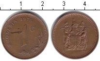 Изображение Монеты Родезия 1 цент 1976 Медь XF