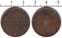 Изображение Монеты Индия 1/4 анны 1939 Медь VF