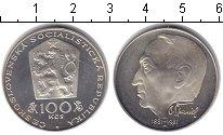 Изображение Монеты Чехословакия 100 крон 1981 Серебро Proof- Отакар Спаниэль