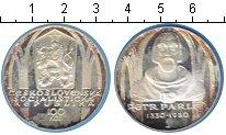 Изображение Монеты Чехословакия 100 крон 1980 Серебро Proof- Петер Парлер