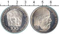 Изображение Монеты Чехословакия 100 крон 1974 Серебро Proof- Бедрих Сметана