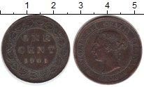 Изображение Монеты Канада 1 цент 1901 Медь XF Виктория
