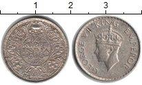 Изображение Монеты Индия 1/4 рупии 1940 Серебро VF