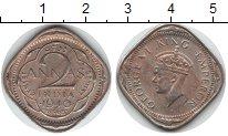 Изображение Монеты Индия 2 анны 1940 Медно-никель XF