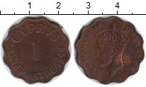 Изображение Монеты Кипр 1 пиастр 1944 Медь XF Георг VI