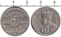 Изображение Монеты Канада 5 центов 1936 Медно-никель XF Георг V