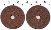 Изображение Монеты Родезия 1 пенни 1942 Медь XF