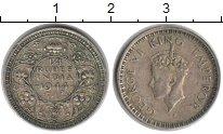 Изображение Монеты Индия 1/4 рупии 1944 Серебро VF
