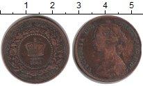 Изображение Монеты Новая Скотия 1 цент 1861 Медь XF