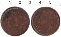 Изображение Монеты Стрейтс-Сеттльмент 1 цент 1887 Медь XF