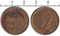 Изображение Монеты Западная Африка 1 шиллинг 1939 Медь XF