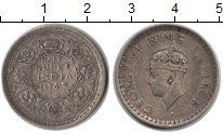 Изображение Монеты Индия 1/2 рупии 1943 Серебро VF