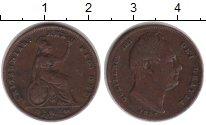 Изображение Монеты Великобритания 1 фартинг 1837 Медь VF Вильям IV