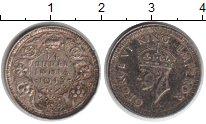 Изображение Монеты Индия 1/4 рупии 1943 Серебро VF