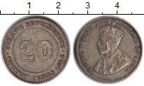 Изображение Монеты Стрейтс-Сеттльмент 20 центов 1926 Серебро XF Георг V