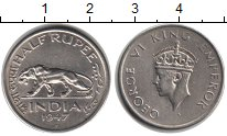 Изображение Монеты Индия 1/2 рупии 1947  XF