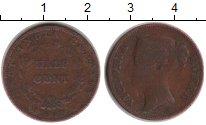 Изображение Монеты Индия 1/2 цента 1845 Медь VF